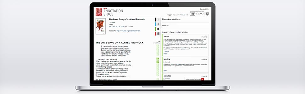 Seeking Teachers of Poetry to Test our New Annotation Tool